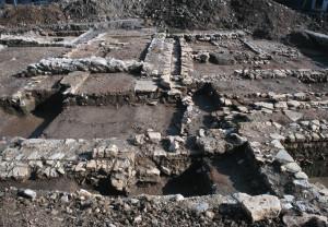 les fouilles de l'ilôt Guynemer  Oloron-Ste-Marie. ph. PLG