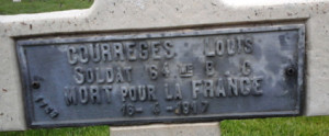 tombe courrèges